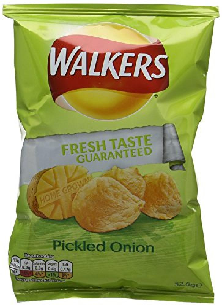 Walkers Pickled Onion Flavour Crisps 32g