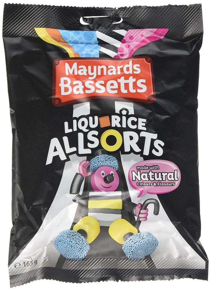 Maynards Bassetts Liquorice Allsorts Sweets Bag 165g