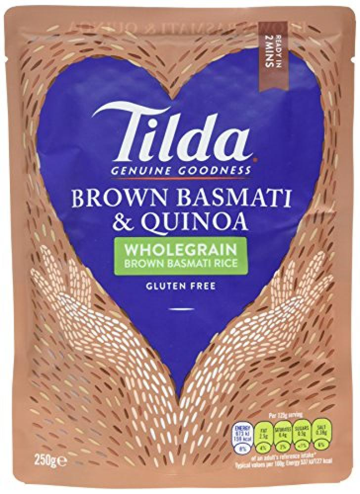 Tilda Wholegrain Brown Basmati and Quinoa Rice 250g