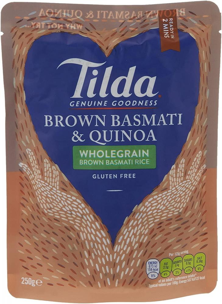 Tilda Microwave Brown Wholegrain Basmati Rice and Quinoa 250g