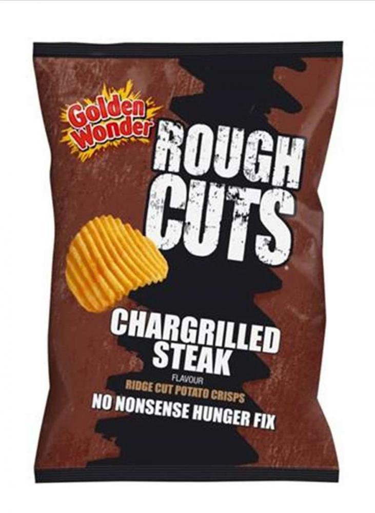 Golden Wonder Rough Cuts Chargrilled Steak Flavour 50g