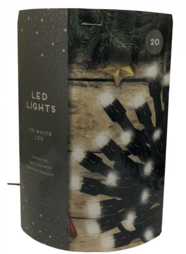 Christmas Celebrations Ice White LED Lights