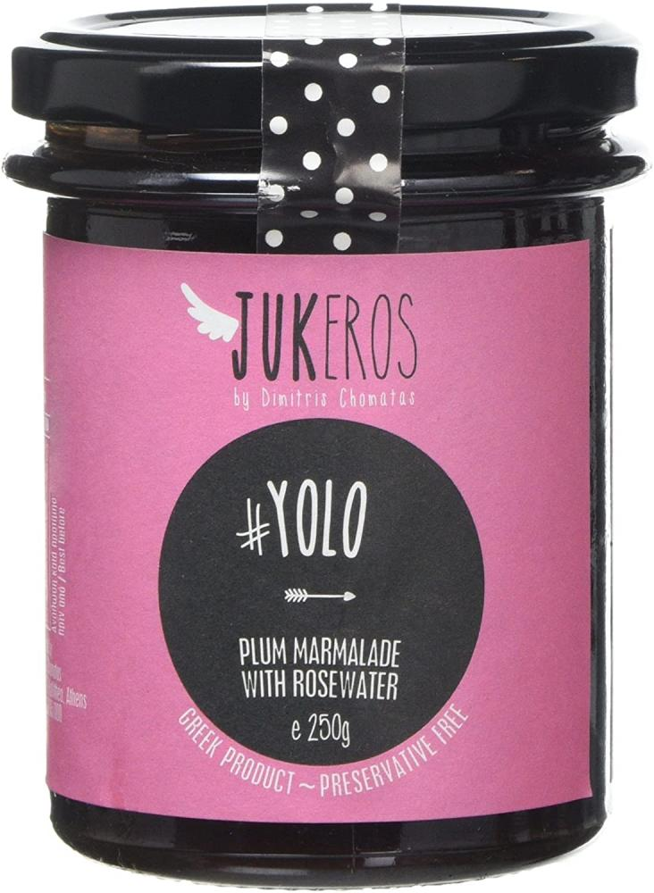 Jukeros Plum Jam with Rose Water Yolo 250 g