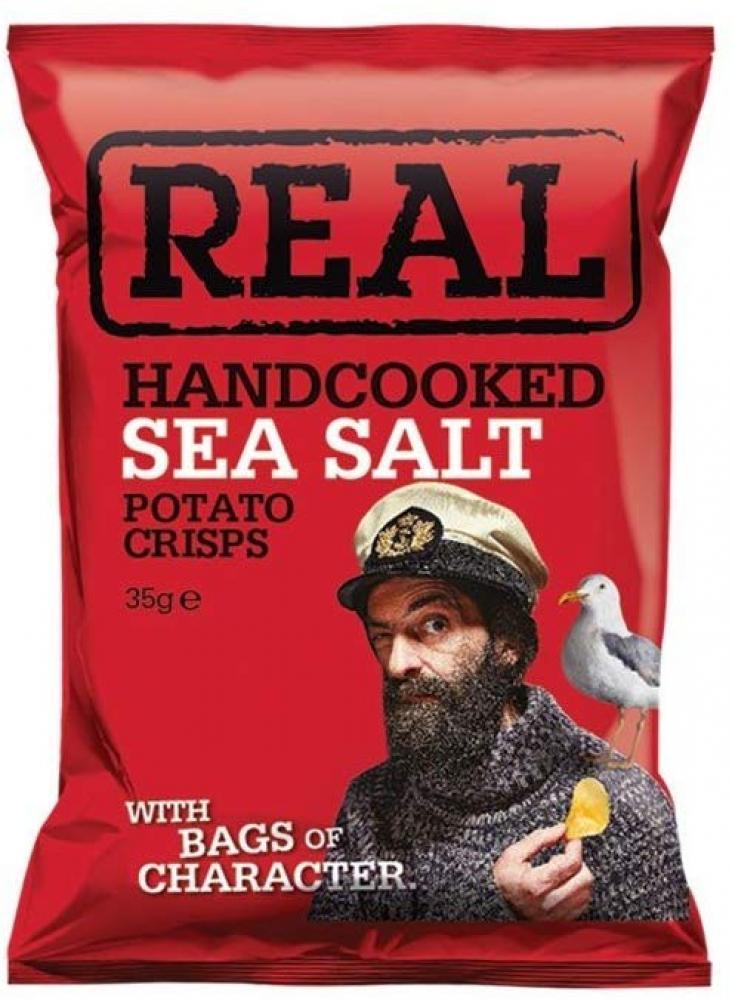 Real Handcooked Sea Salt Crisps 35g