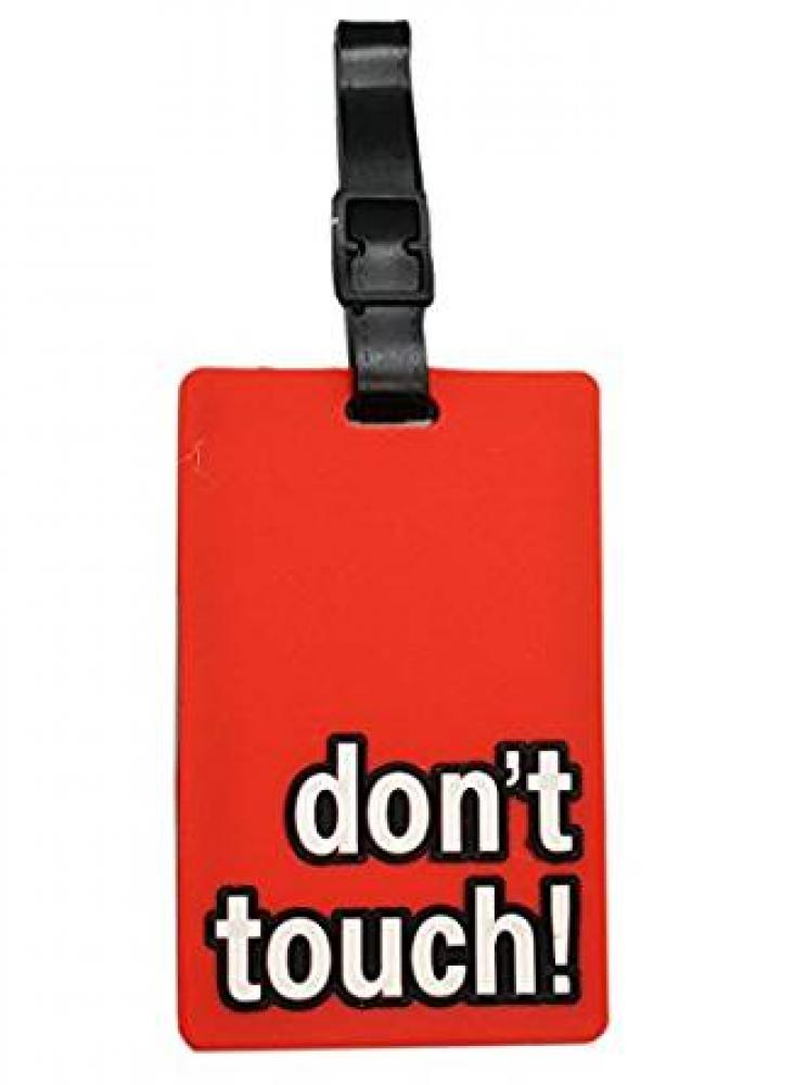 Unbranded Luggage Tag Dont Touch Red