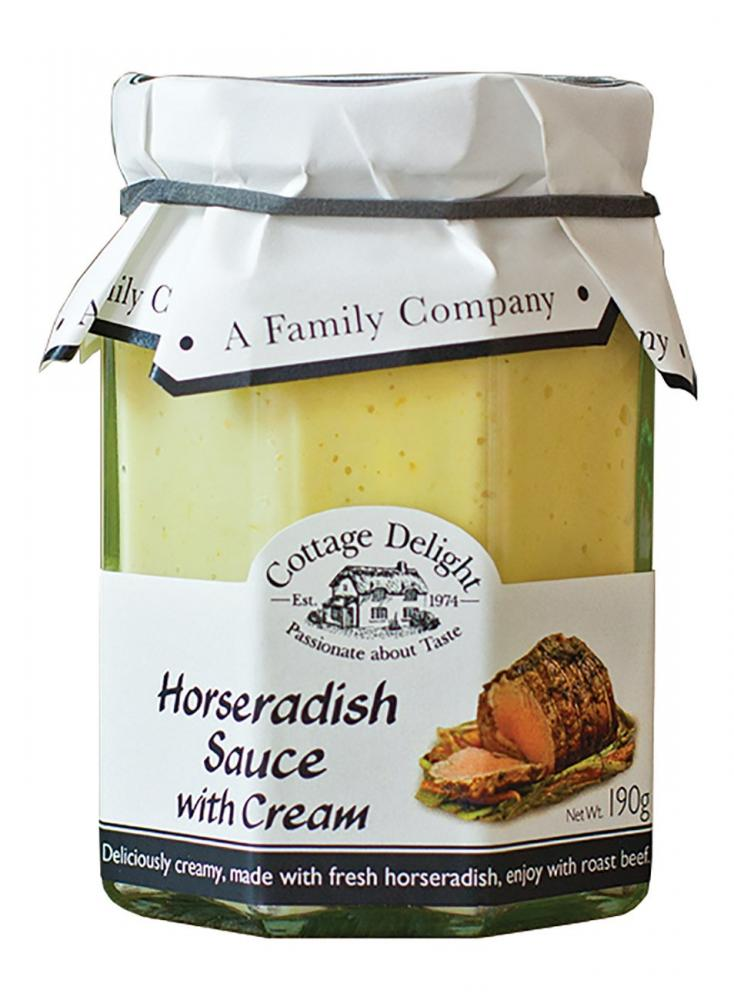 Cottage Delight Horseradish Sauce With Cream 190g