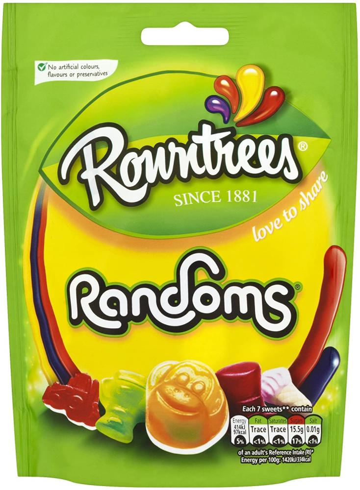 Rowntrees Randoms Sweets Sharing Pouch 150g