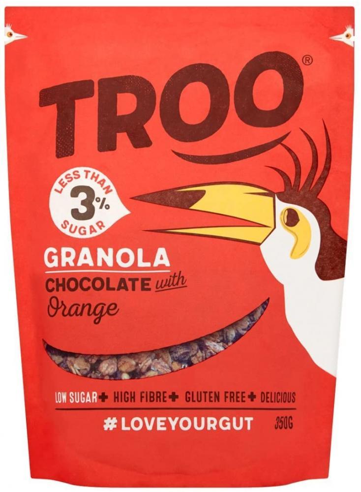 Troo Granola Chocolate With Orange 350 g