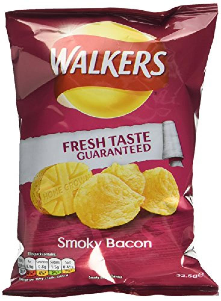 Walkers Smoky Bacon Flavour Crisps 32.5 g
