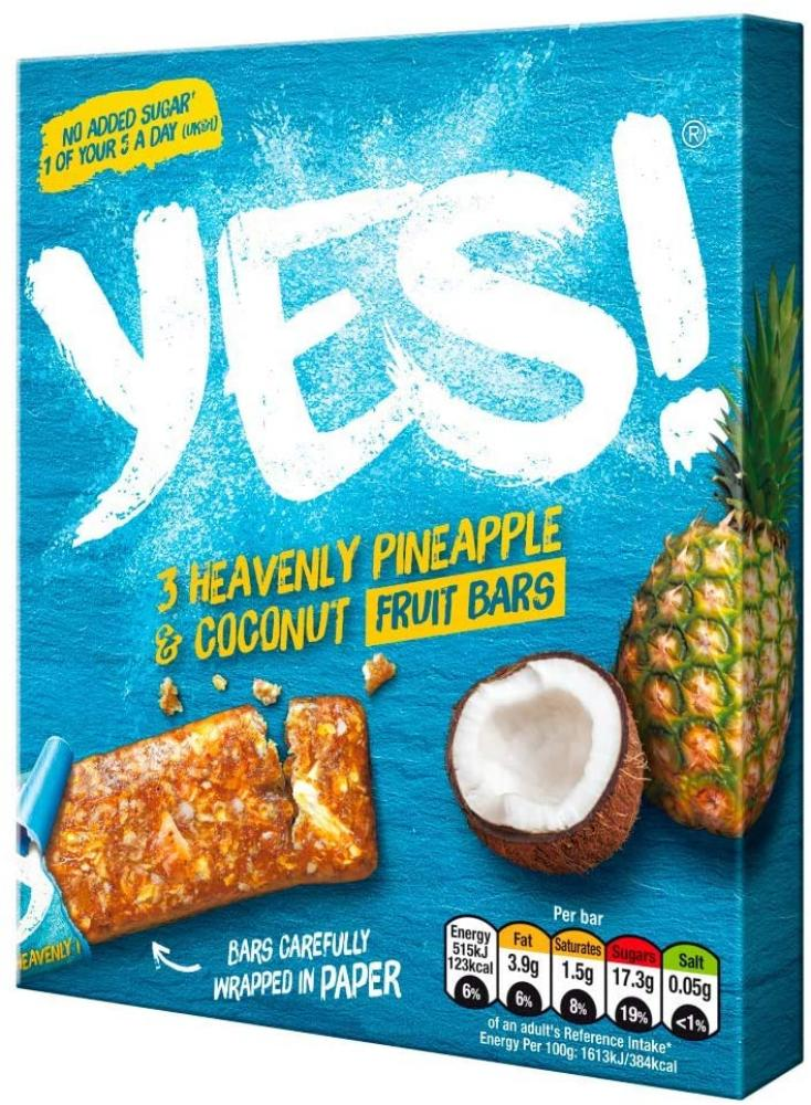 Yes Pineapple and Coconut Snack Bar 3x 32 g