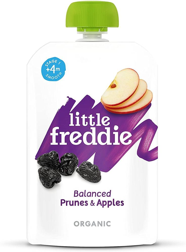 Little Freddie Organic Baby Food - Prunes and Apples Pouch 100 g