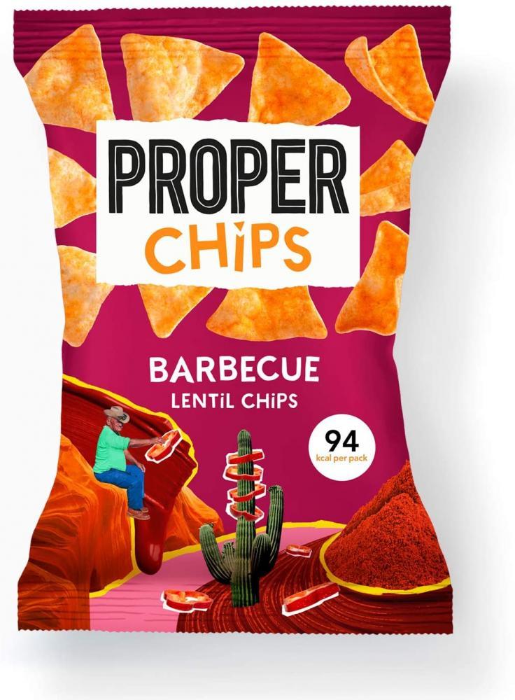 Proper Chips Barbecue Lentil Crisps 20g
