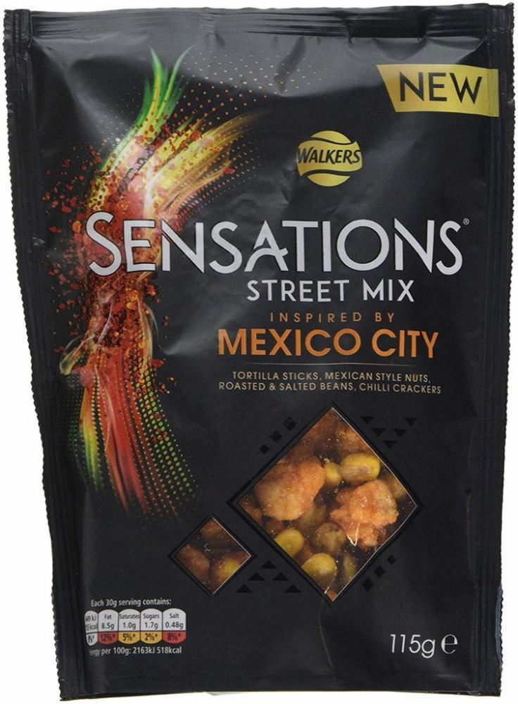 Walkers Sensations Street Mix Mexico City 115g