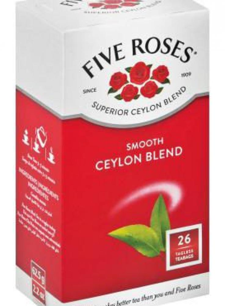 Five Roses Smooth Ceylon Blend 26 Teabags
