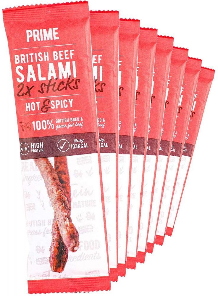 Prime British Beef Salami Sticks Chilli 10 x 28g