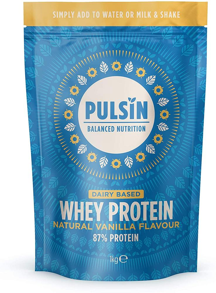 Pulsin Natural Vanilla Flavoured Protein Powder 1kg