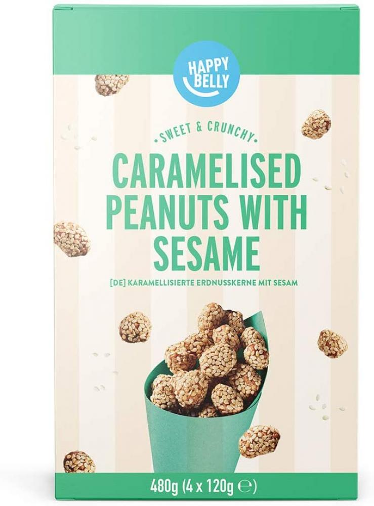 Happy Belly Caramelised Peanuts with Sesame 480g