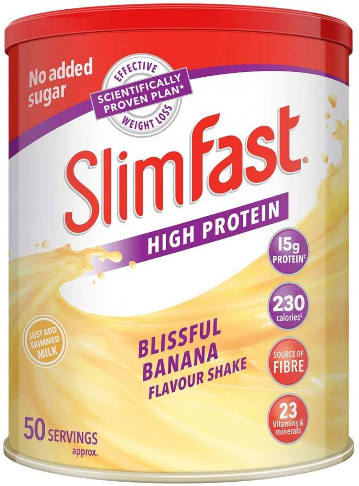 SlimFast Meal Replacement Powder Shake Blissful Banana 50 Servings