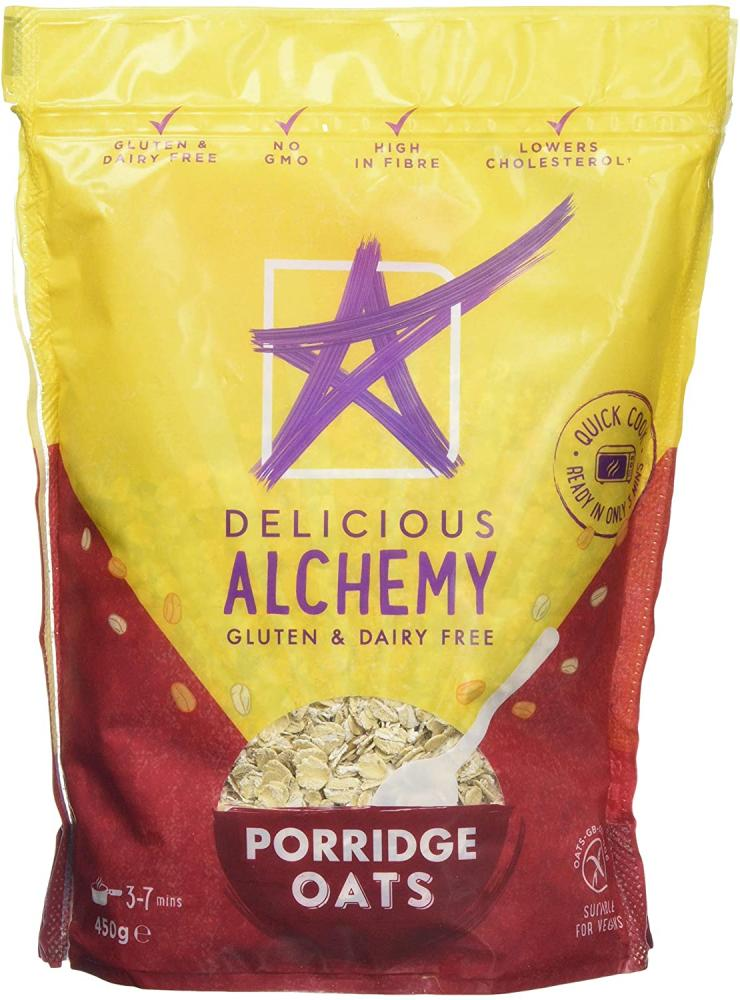 Delicious Alchemy Gluten And Dairy Free Oats 450g