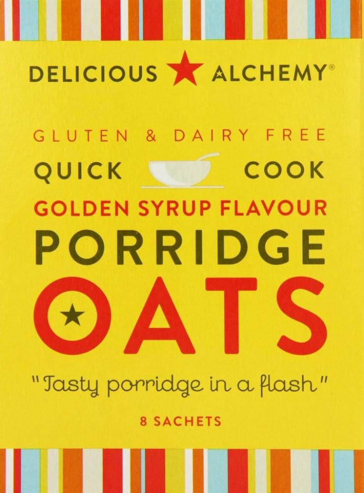 Delicious Alchemy Golden Syrup Porridge Oats 27g x 8 sachets