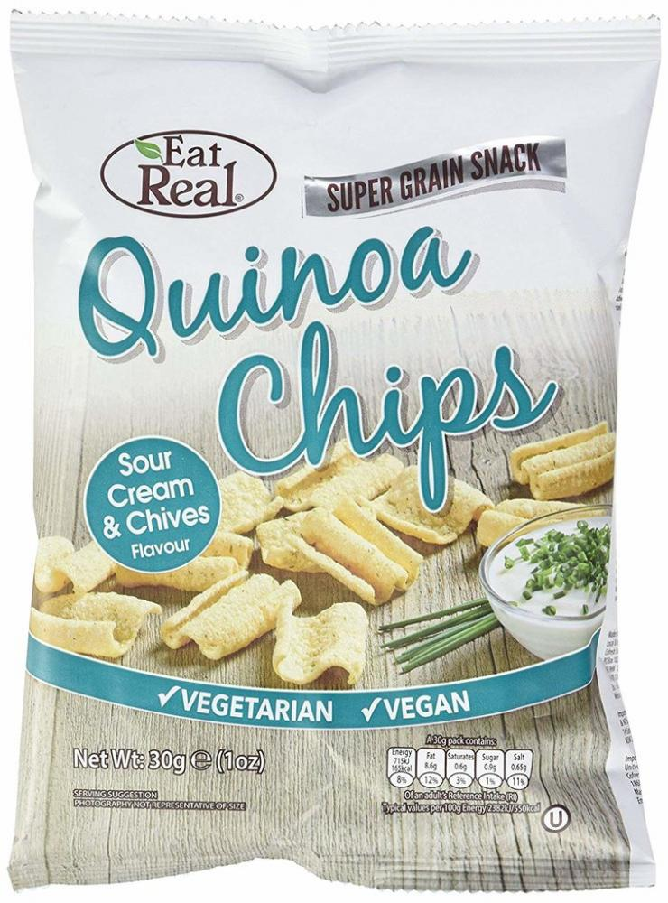 Eat Real Quinoa Cream and Chive Chips 30g