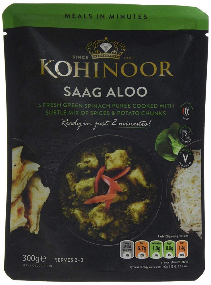 Kohinoor Saag Aloo 300 g