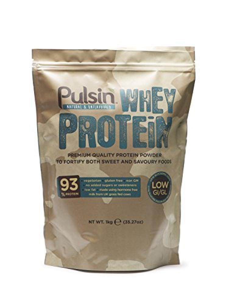 Pulsin Unflavoured Whey Protein Powder 1kg