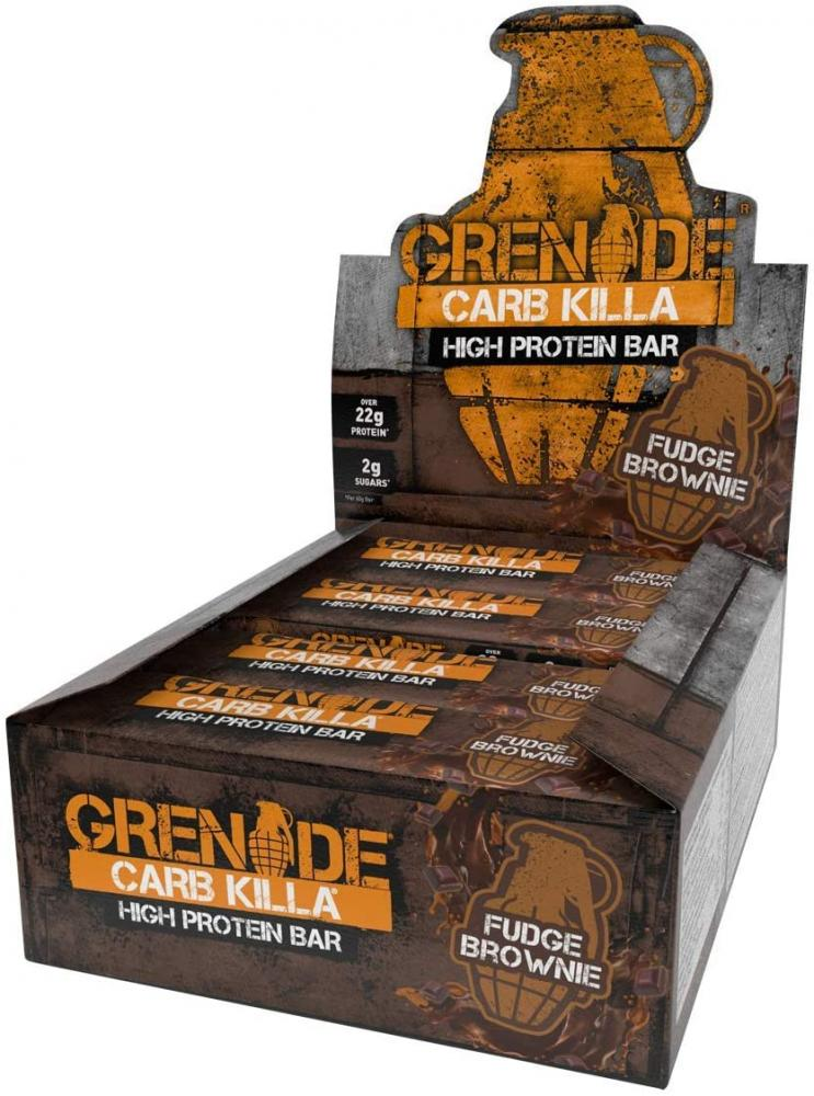 CASE PRICE  Grenade Carb Killa High Protein Fudge Brownie Flavour 12 x 60g
