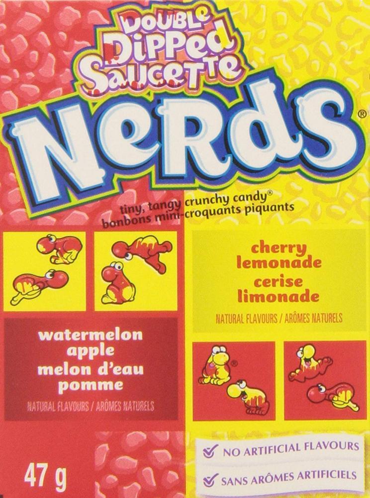 Wonka Nerds LemonadeAppleWatermelon and Wild Cherry Tangy Candies 47g