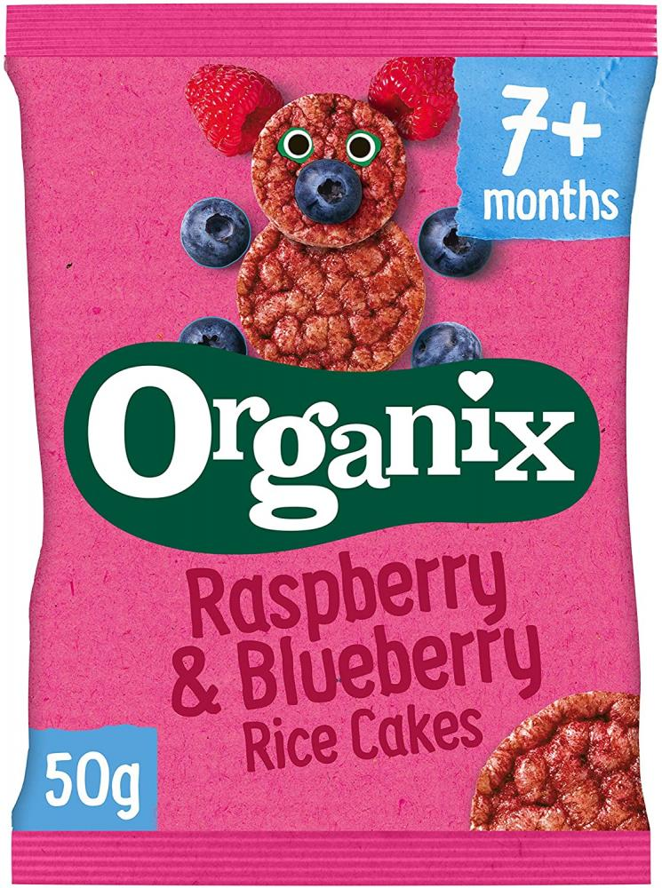 Organix Raspberry And Blueberry Rice Cakes 50 g