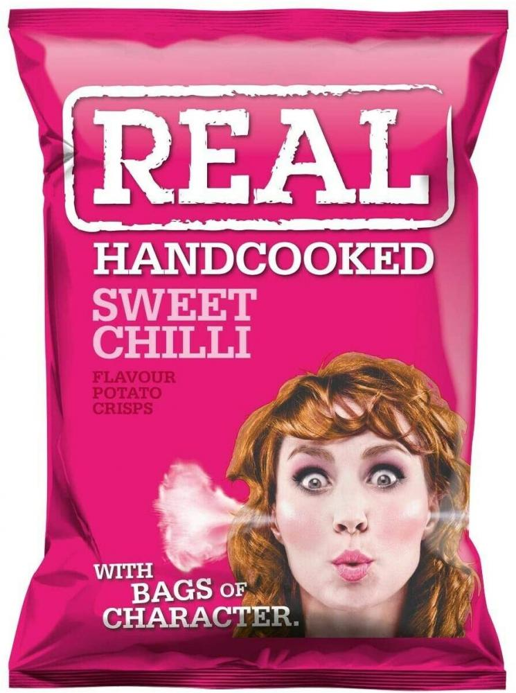 Real Handcooked Sweet Chilli Flavour Crisps 35g