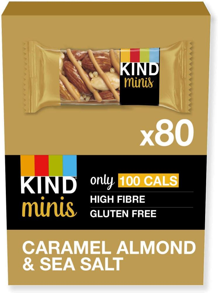 CASE PRICE  Kind Minis Bars Caramel Almond And Sea Salt 80x20g