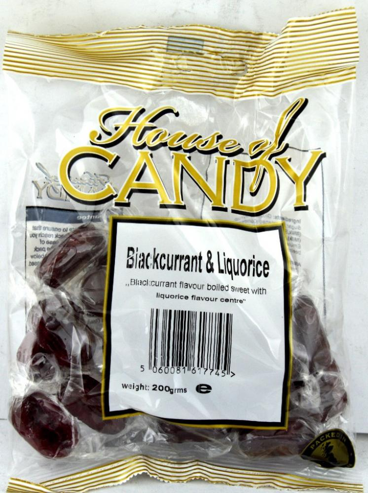 House Of Candy Blackcurrant and Liquorice 200g