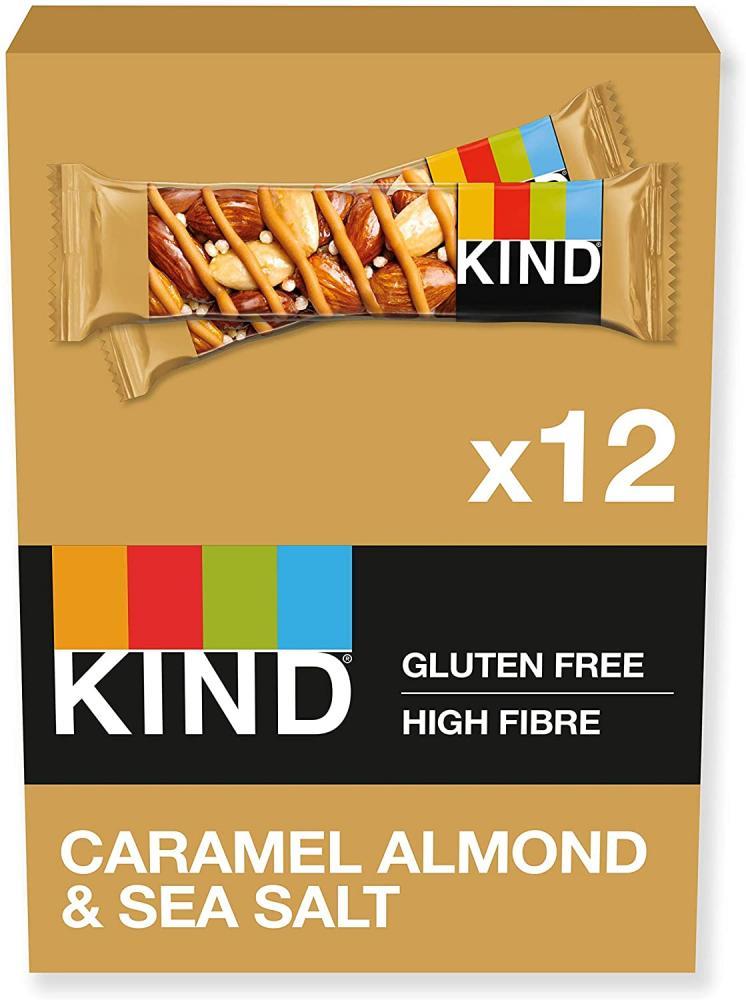 CASE PRICE  Kind Caramel Almond and Sea Salt Bar 12 x 40g
