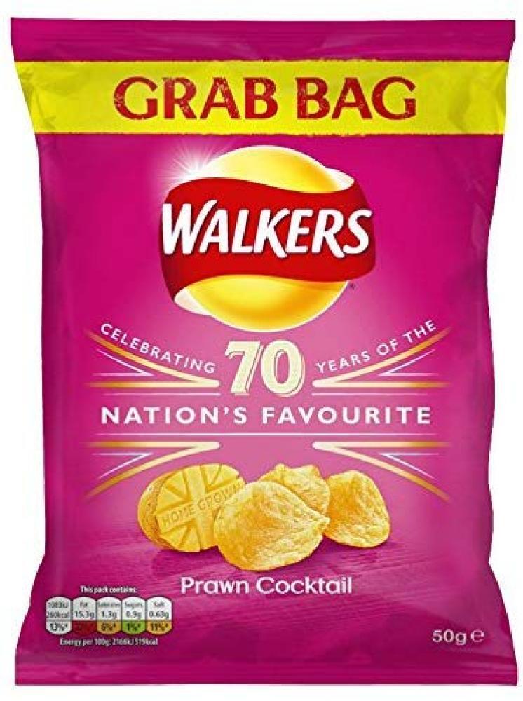 Walkers Prawn Cocktail Grab Bag Crisps 50 g