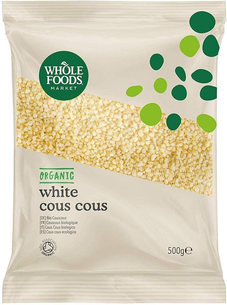 Whole Foods Market Organic White Cous Cous Durum Wheat Semolina 500g
