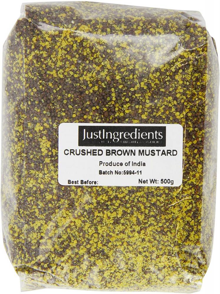 JustIngredients Essentials Crushed Black Brown Mustard Seed 500g