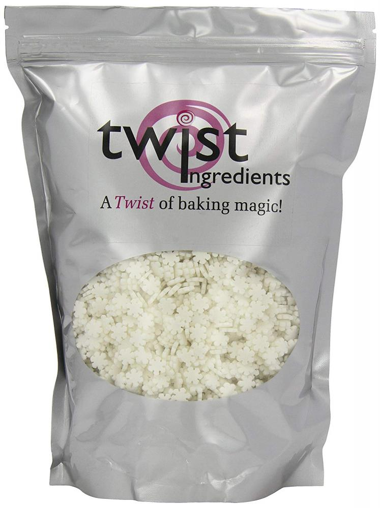 Twist Ingredients White Sugar Snowflakes 800 g