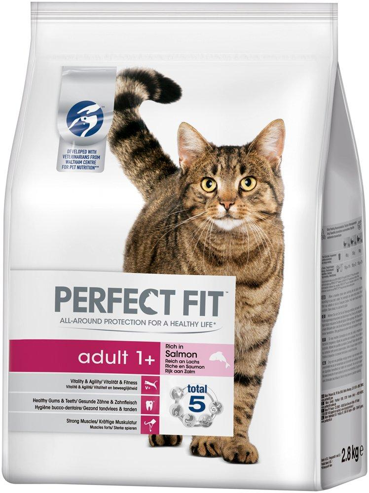 Perfect Fit Adult Cat 1 Plus Complete Dry Food Salmon 2.8kg
