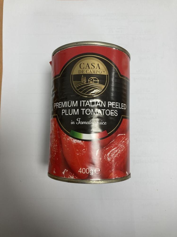 Casa De Campo Premium Italian Peeled Plum Tomatoes 400g