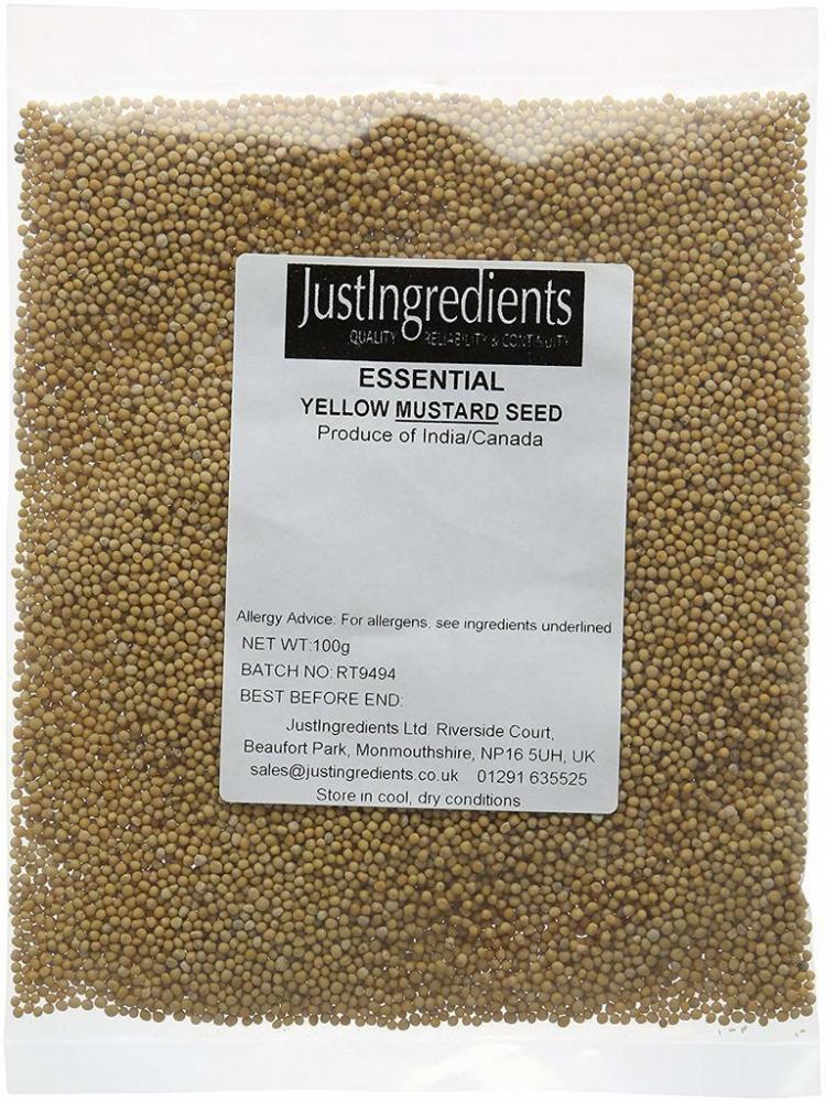 JustIngredients Essentials Yellow Mustard Seeds 100g
