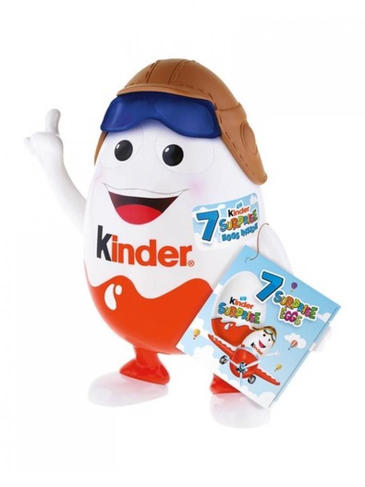 Kinder Surprise Mascot With 7 Surprise Eggs 140g