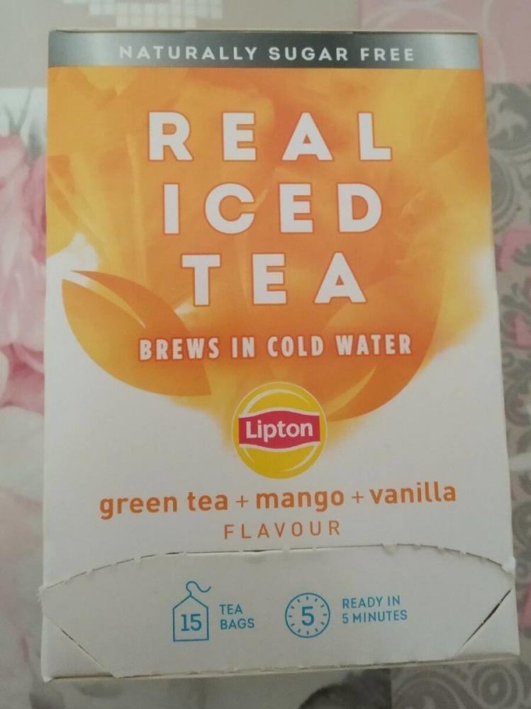 SALE  Lipton Real Iced Tea Mango and Vanilla 15 Tea Bags