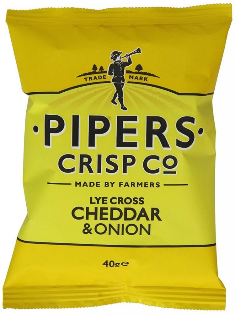 Pipers Crisp Co Lye Cross Cheddar and Onion 40g