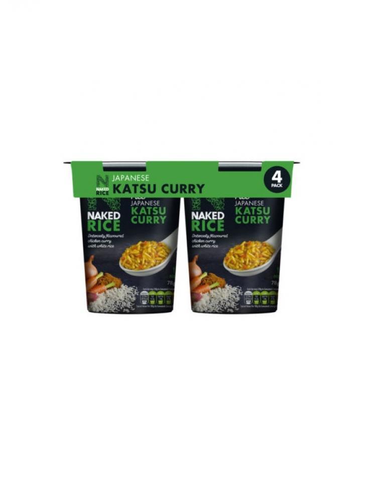 Naked Rice Japanese Katsu Curry 4 x 78g