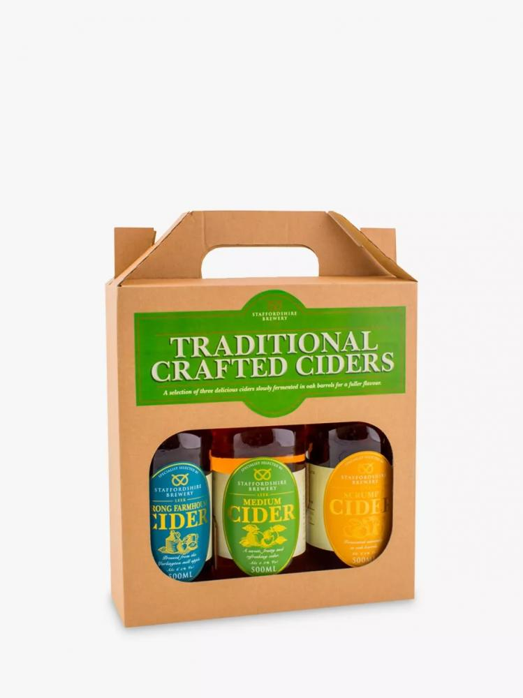 Staffordshire Brewery Traditional Crafted Ciders 3 x 500ml