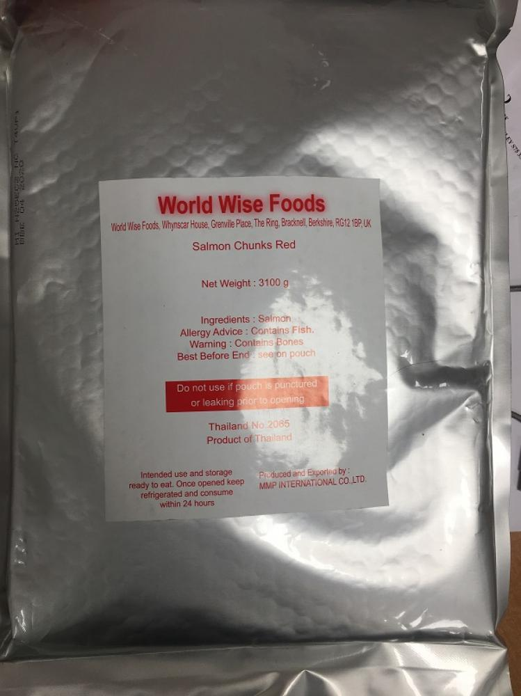 World Wise Foods Salmon Chunks Red 3.1kg