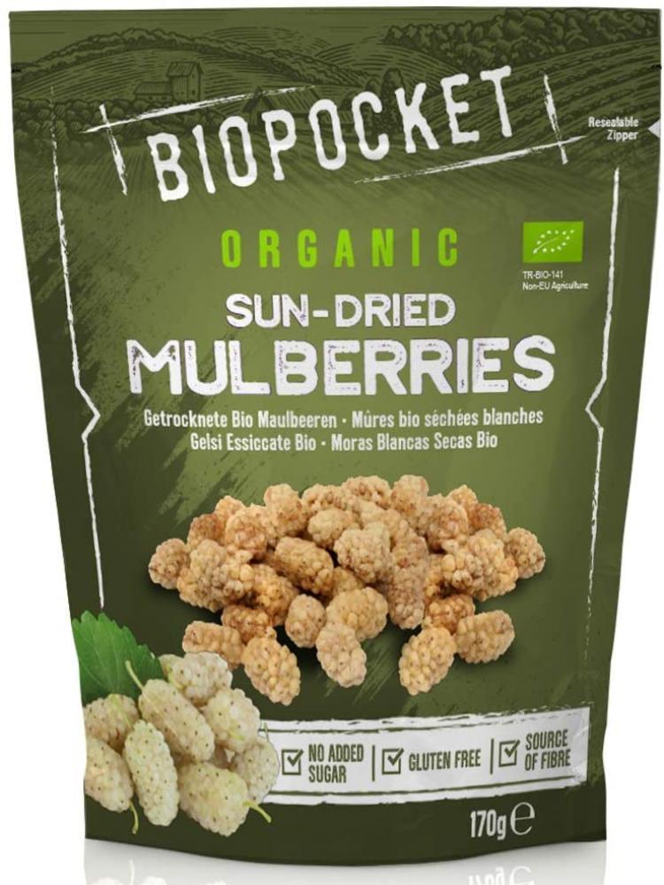 SALE  Biopocket Organic Dried Mulberries 170 g