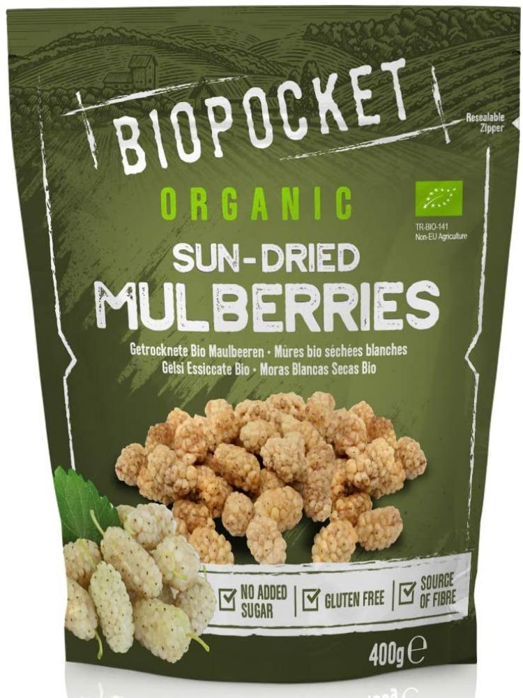 Biopocket Organic Dried Mulberries 400 g