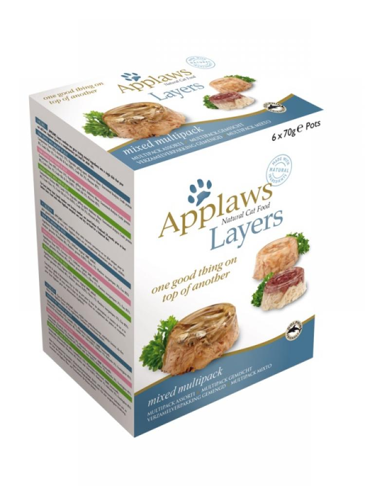 CASE PRICE  Applaws Cat Food Layers Multipack 70g x 6